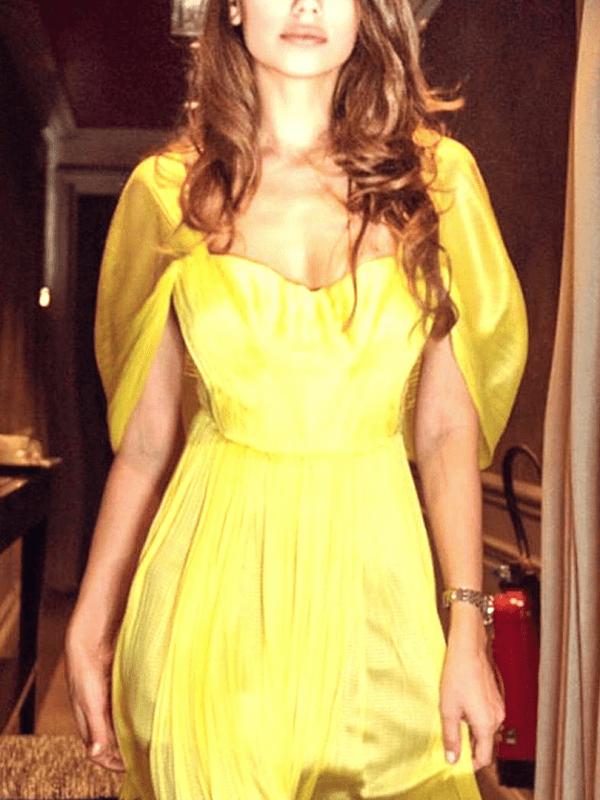 Stephanie escort model in lovely yellow dress