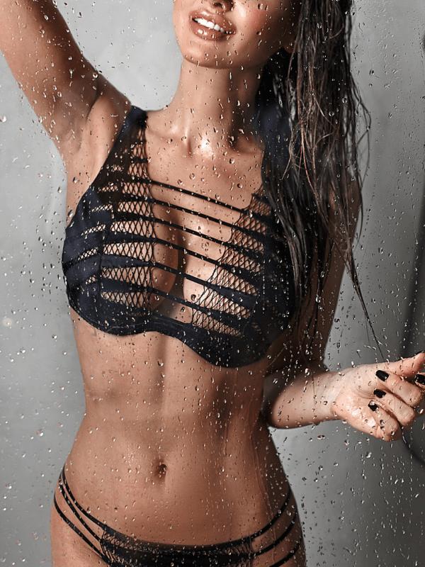 London escort model in the shower
