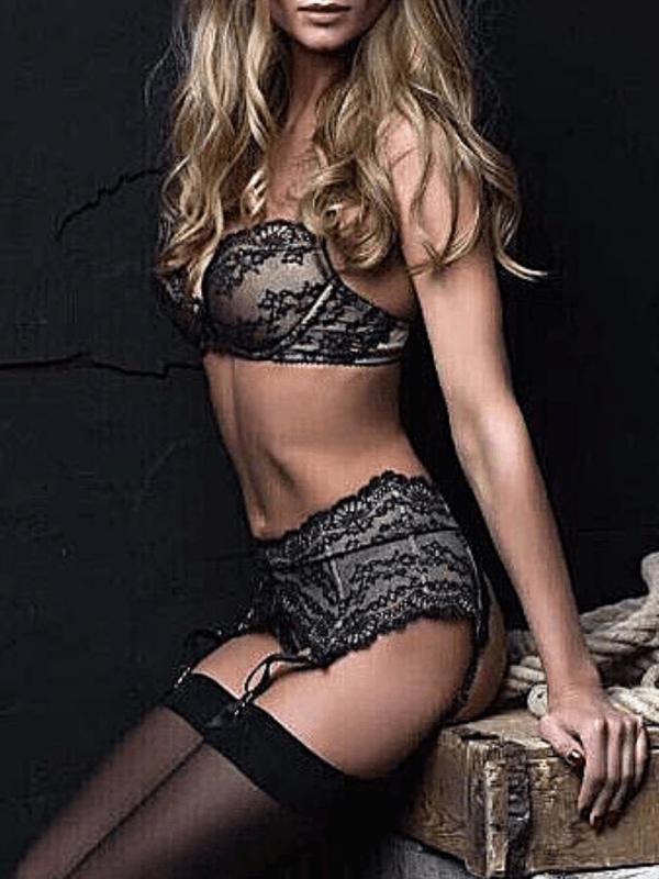 london escort model in black lingerie