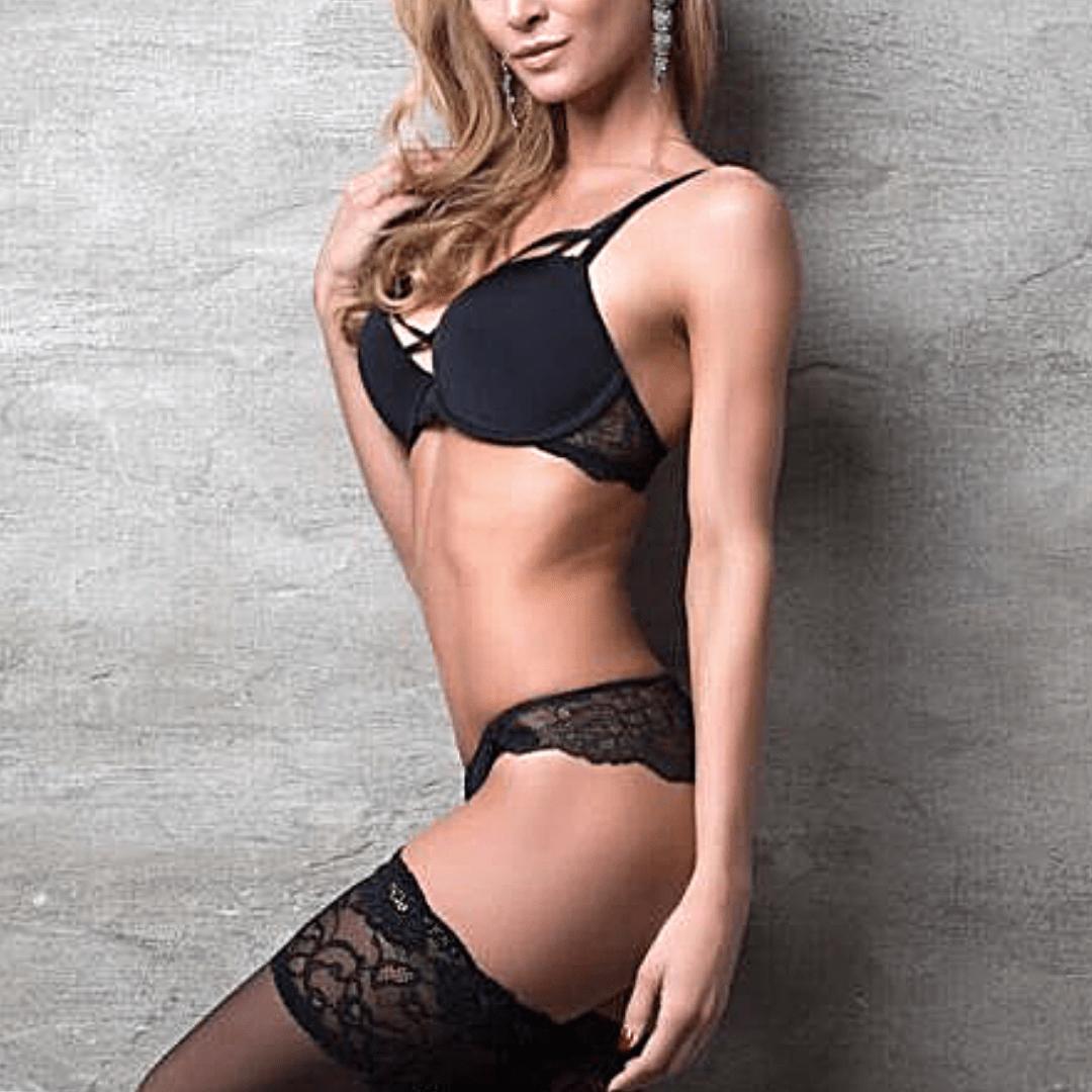 escort model striking a pose